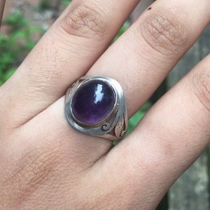 Amethyst 925 stamped sterling silver ring